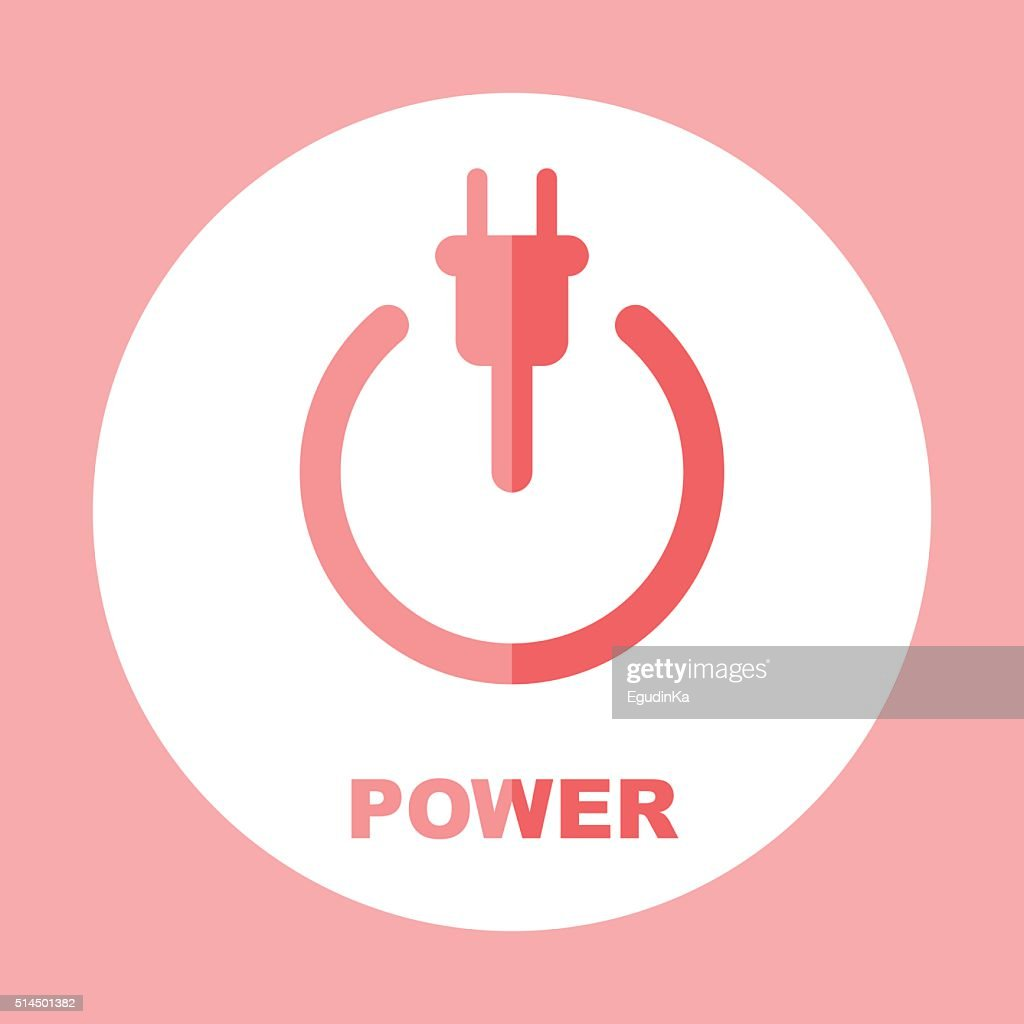 Power icon. The concept of electricity. Vector sign
