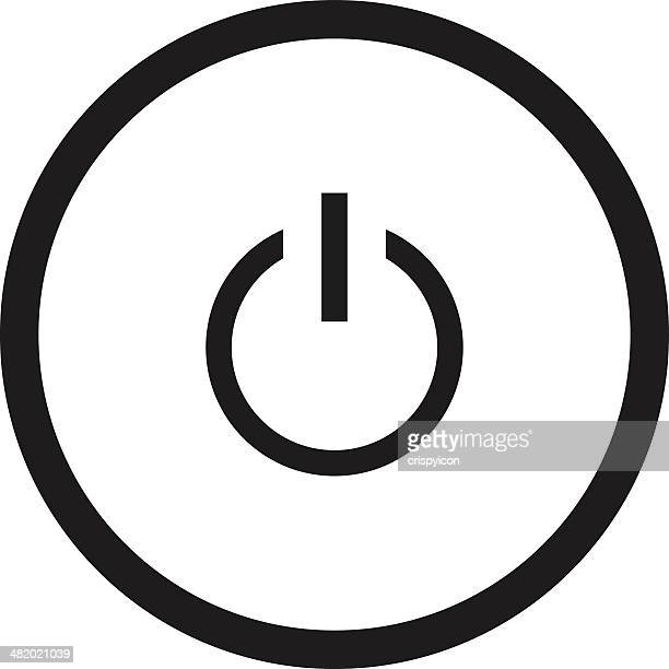 power icon - start button stock illustrations, clip art, cartoons, & icons