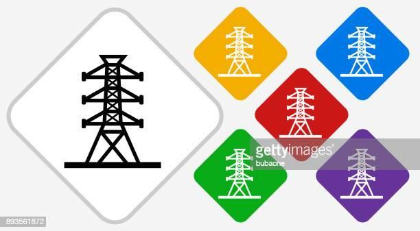 Power Line Color Diamond Vector Icon