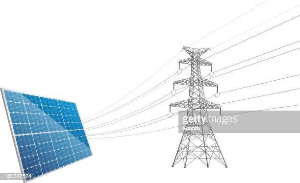 Power Line tower and solar