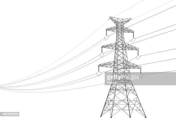 power line - power line stock illustrations