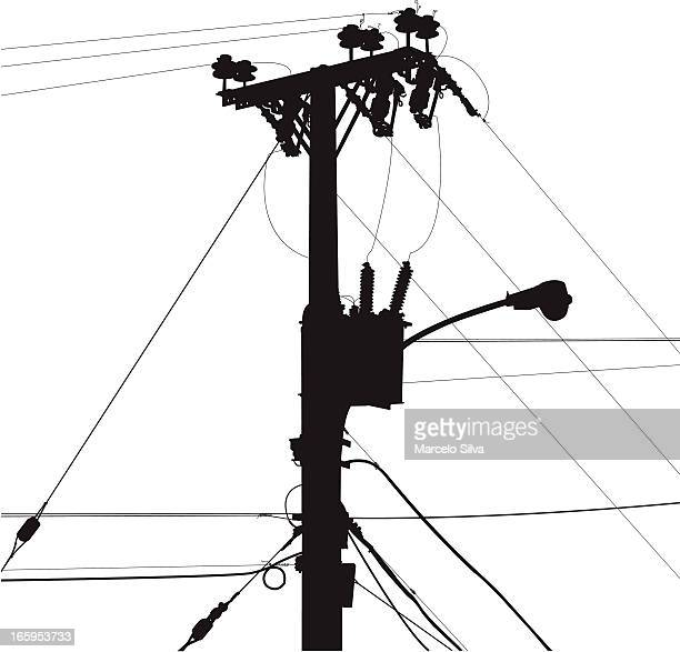 power lines - power outage stock illustrations, clip art, cartoons, & icons