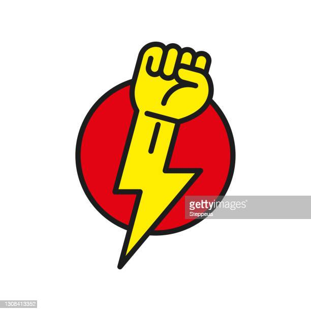 power of the people - activist icon stock illustrations