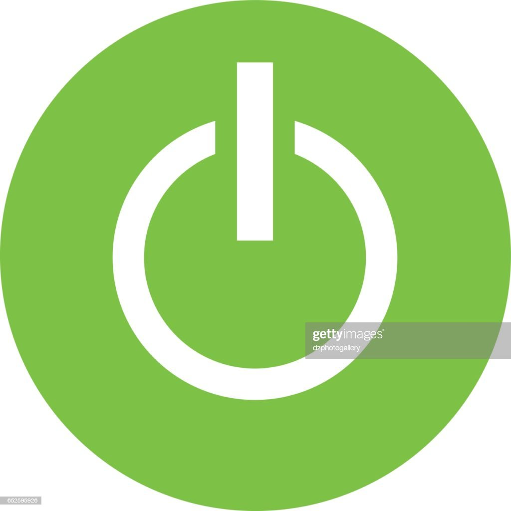 Power on/off button icon vector design