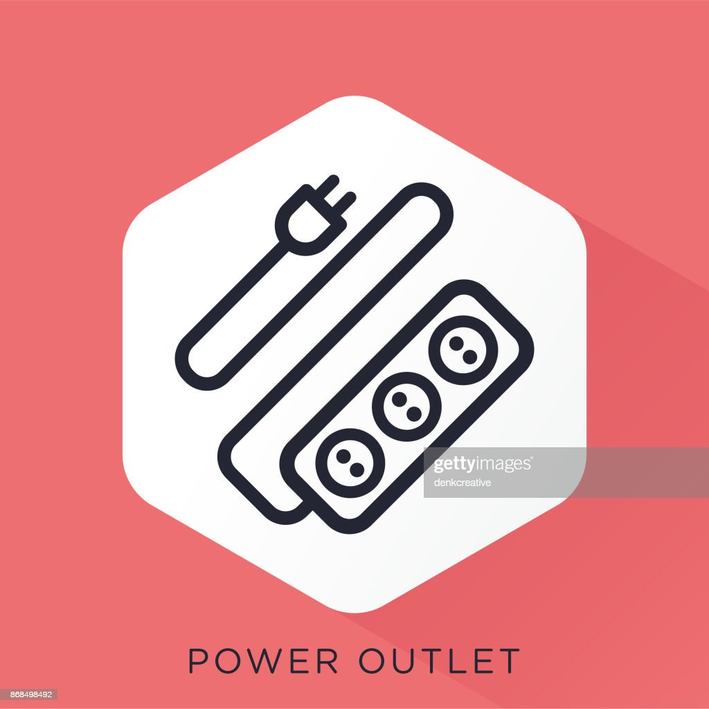 Power Outlet Icon : Stock Illustration