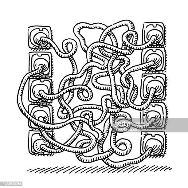 Stromstecker verwechselt Kabel Zeichnung