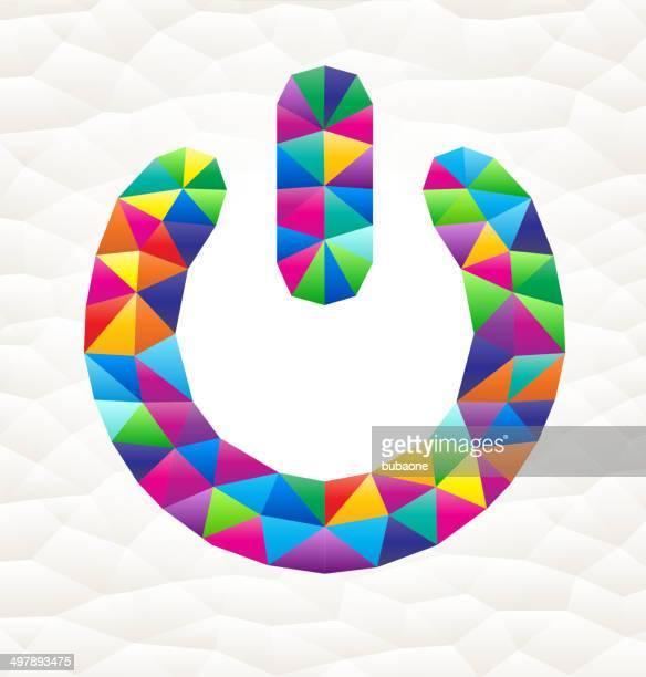 power sign on triangular pattern mosaic royalty free vector art - free mosaic patterns stock illustrations