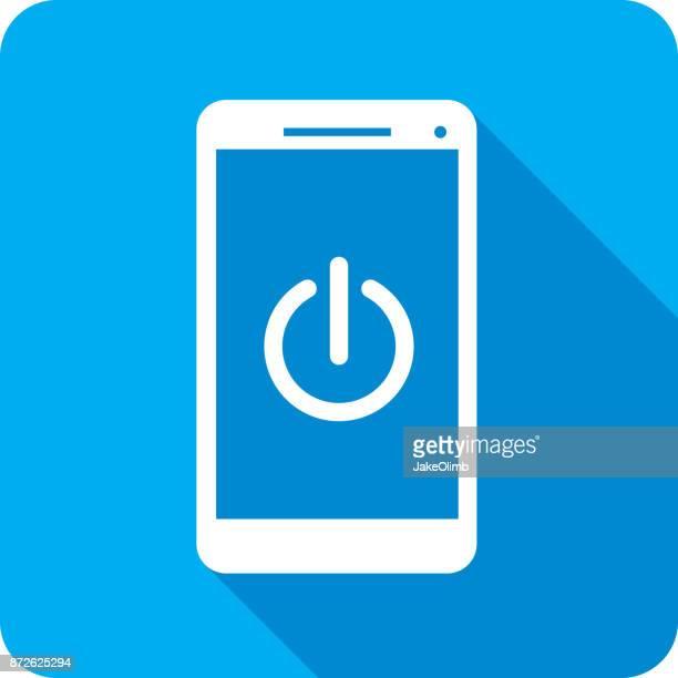 Power Smartphone Icon Silhouette