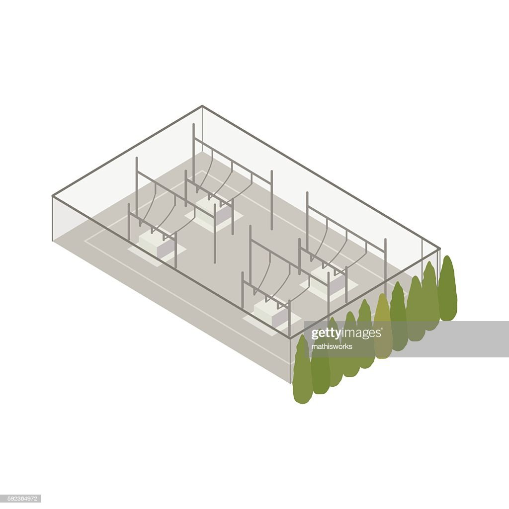 Power substation isometric illustration