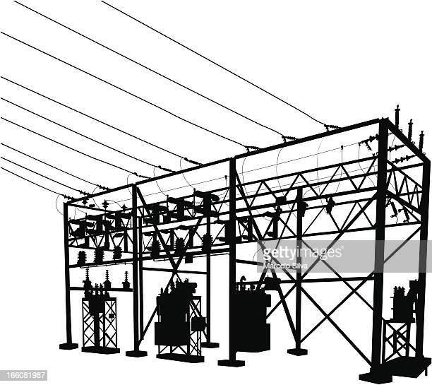 Electricity Substation Stock Illustrations And Cartoons