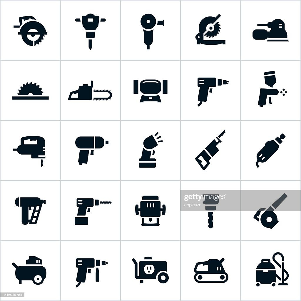 Power Tools and Equipment Icons