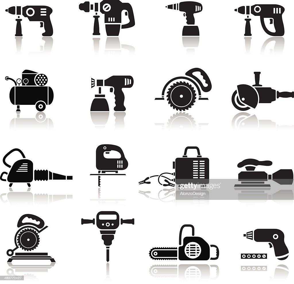 Power Tools Icons Set : stock illustration