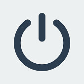 Power Turn Off Icon.Vector Illustration