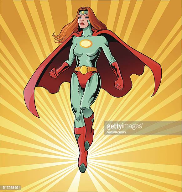 powerful female superhero - only women stock illustrations, clip art, cartoons, & icons