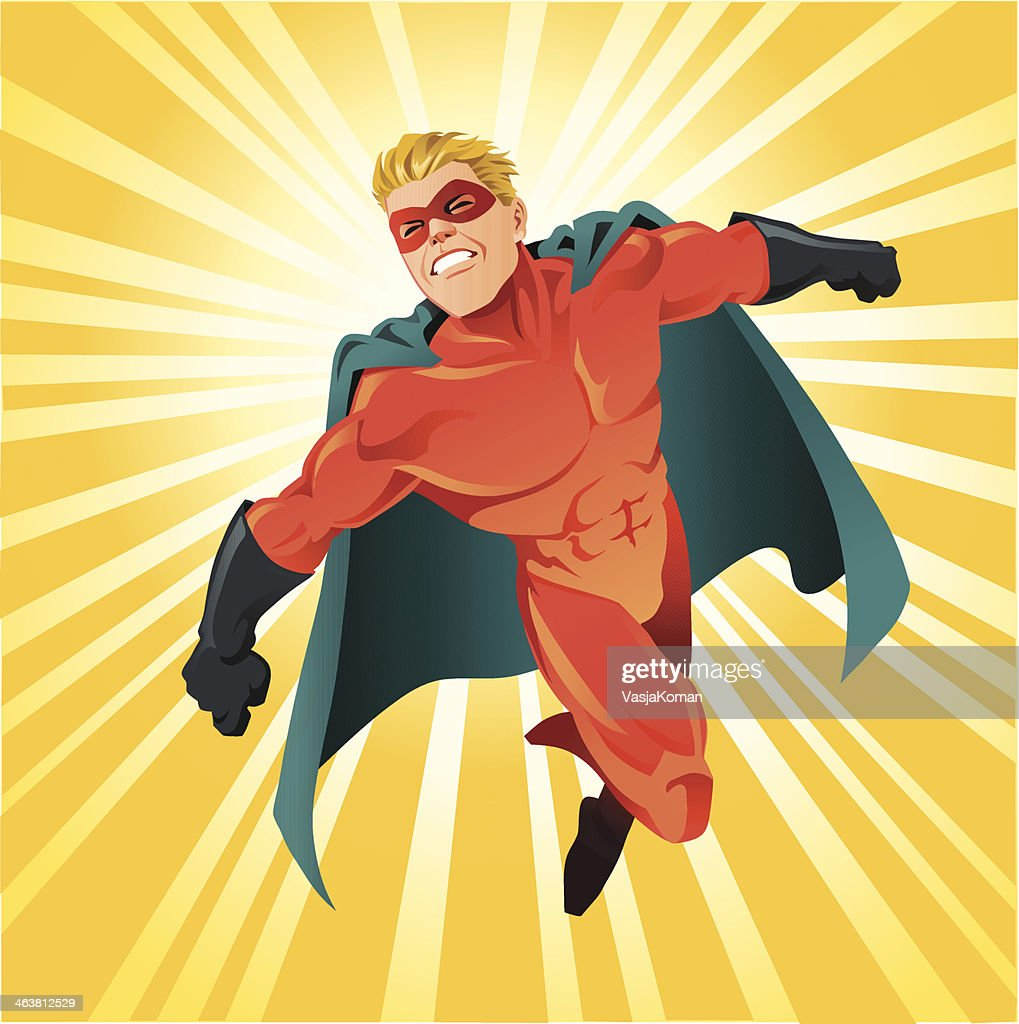 Powerful Superhero Flying