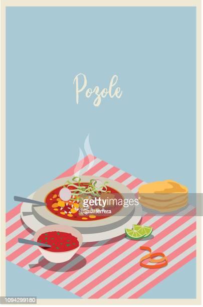 illustrations, cliparts, dessins animés et icônes de pozole cuisine mexicaine - galette des rois