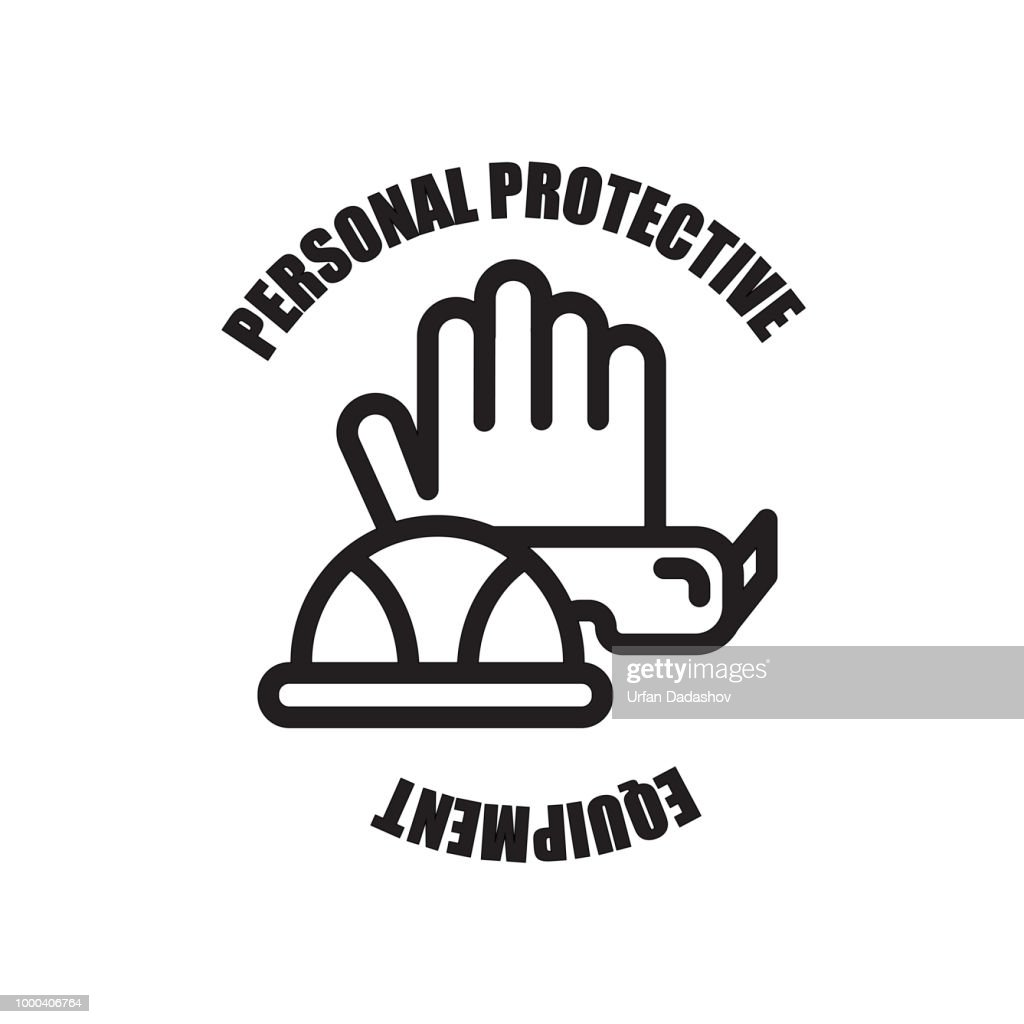 ppe icon isolated on white background