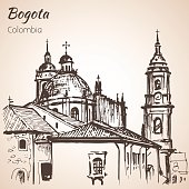 PPrimatial Cathedral of Bogota. Sketch