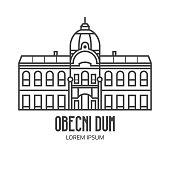 Prague Municipal House Line Emblem