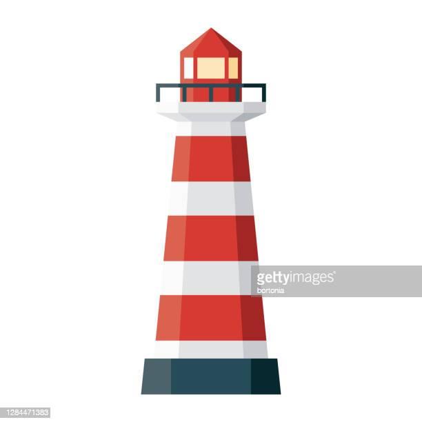 praia da barra lighthouse icon on transparent background - lighthouse stock illustrations