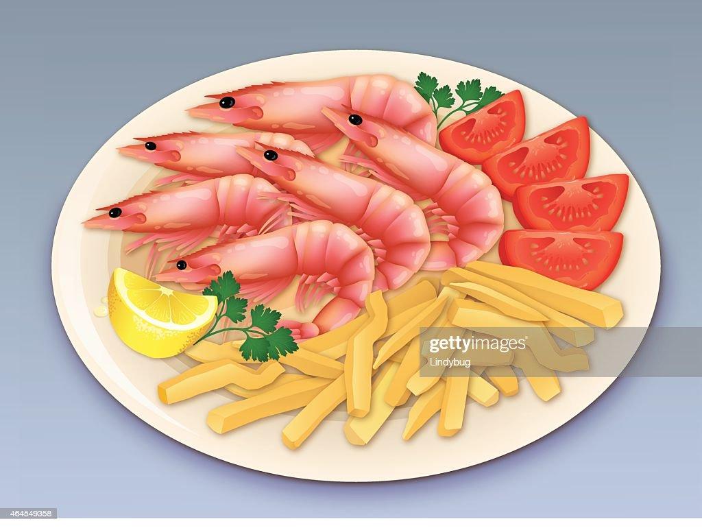 Prawn seafood feast