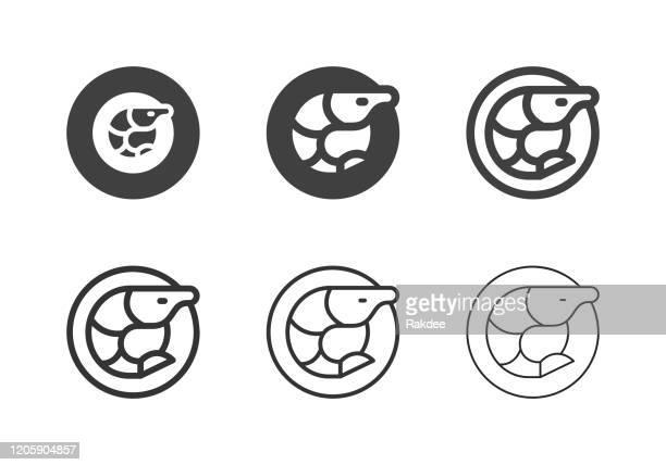 エビシーフードアイコン - マルチシリーズ - エビ料理点のイラスト素材/クリップアート素材/マンガ素材/アイコン素材