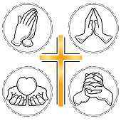 Prayer hand set - Christianity