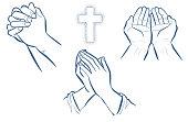 Prayer hand set
