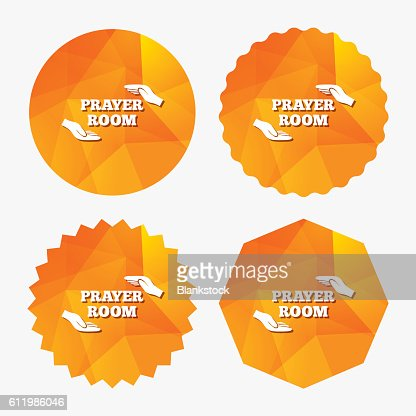 Prayer Room Sign Icon Religion Priest Symbol Vector Art Getty Images