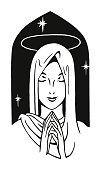 Praying Veiled Woman