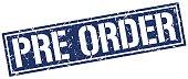 pre order square grunge stamp
