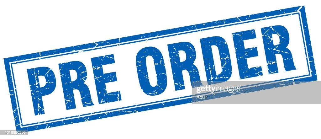 pre order square stamp