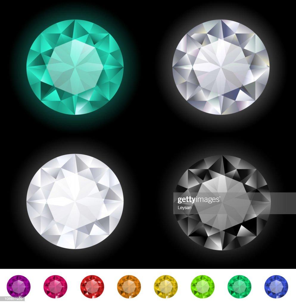 Precious gems set