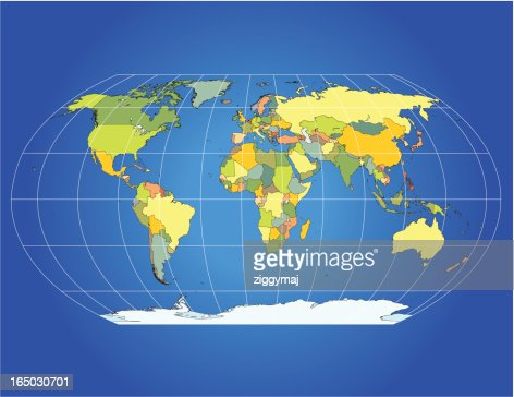 World map with graticules vector art getty images keywords gumiabroncs Images
