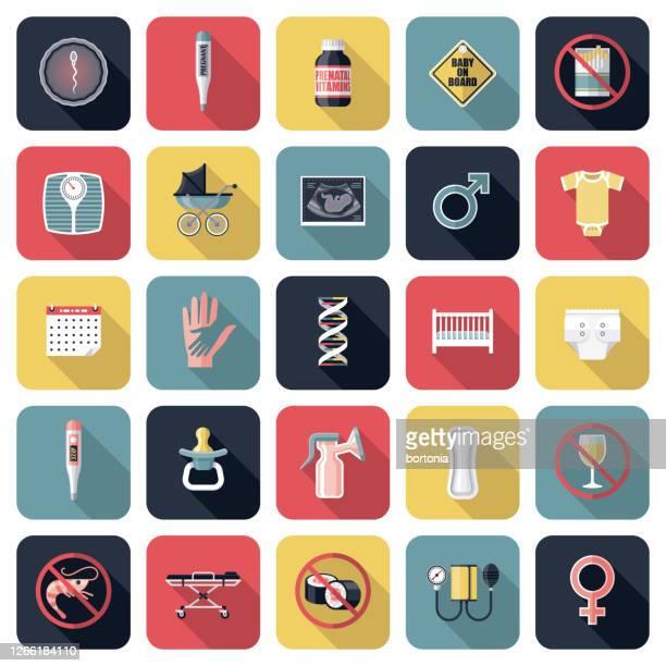 妊娠アイコンセット - 繁殖力点のイラスト素材/クリップアート素材/マンガ素材/アイコン素材
