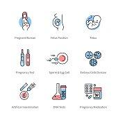 Pregnancy, obstetrics and gynecology symbols