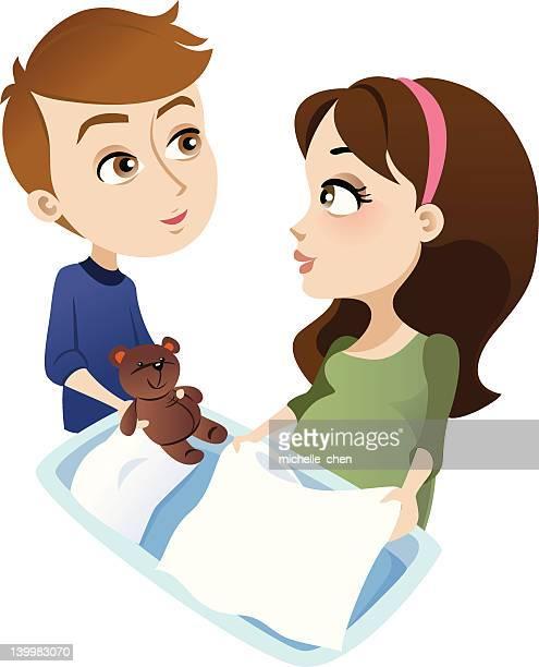pregnancy: preparation - baby blanket stock illustrations, clip art, cartoons, & icons