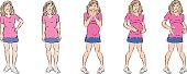 Pregnancy Stages Cartoon