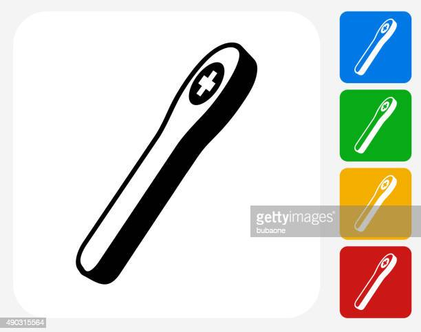 pregnancy test icon flat graphic design - menopause stock illustrations, clip art, cartoons, & icons