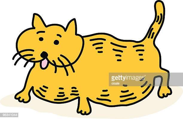 ilustraciones, imágenes clip art, dibujos animados e iconos de stock de embarazada gato - obesidad infantil
