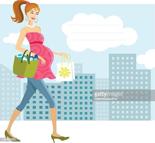 illustrations, cliparts, dessins animés et icônes de femme enceinte mère boutiques - annonce grossesse