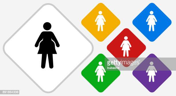 Pregnant Woman Color Diamond Vector Icon