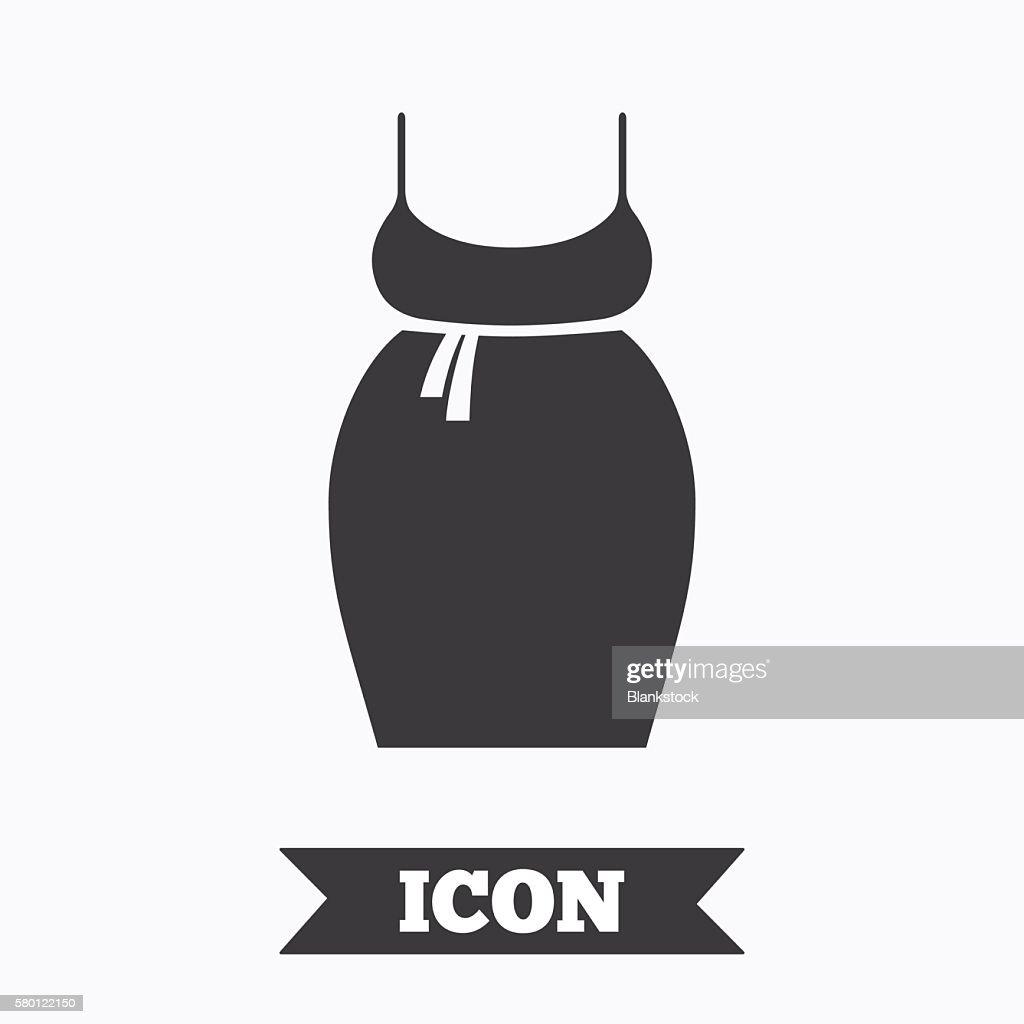 Pregnant Woman Dress Sign Icon Maternity Symbol Vector Art Getty