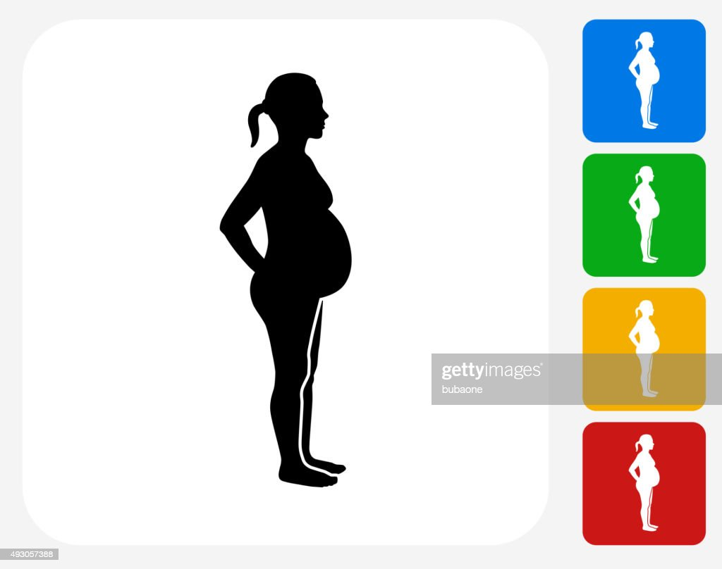 Pregnant Woman Icon Flat Graphic Design Vector Art Getty Images