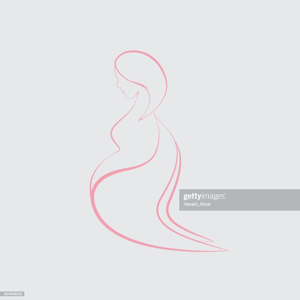 Pregnant Women with Angel Wings