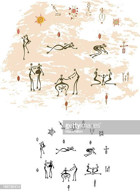 Prehistoric Cave Painting Human Relationships