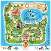Prehistoric Zoo Map