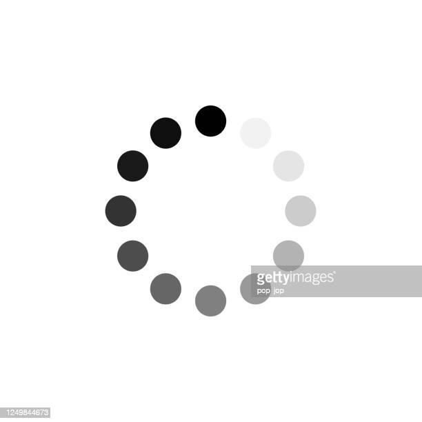 preloader-symbol. vector loading progress round bar - beladen stock-grafiken, -clipart, -cartoons und -symbole