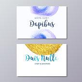 Premade fashion stylist business card design vector templates.