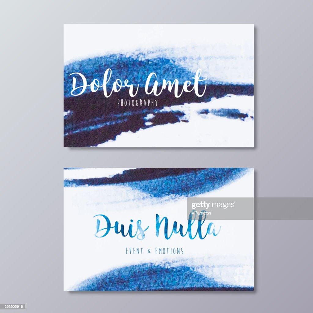 Premade wedding photography business card design vector templates.